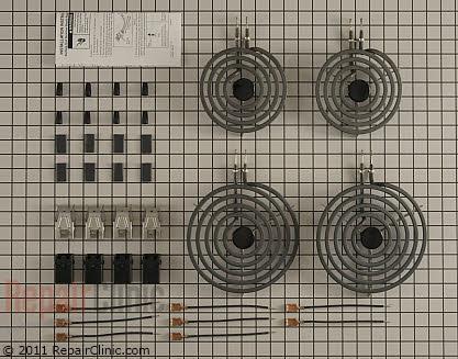 electric range surface element repair kit
