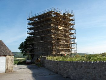 Tubrid Castle undergoing restoration