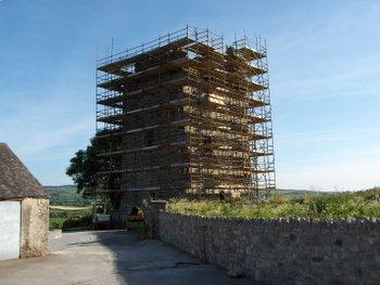 Tubrid Castle undergoing restoration