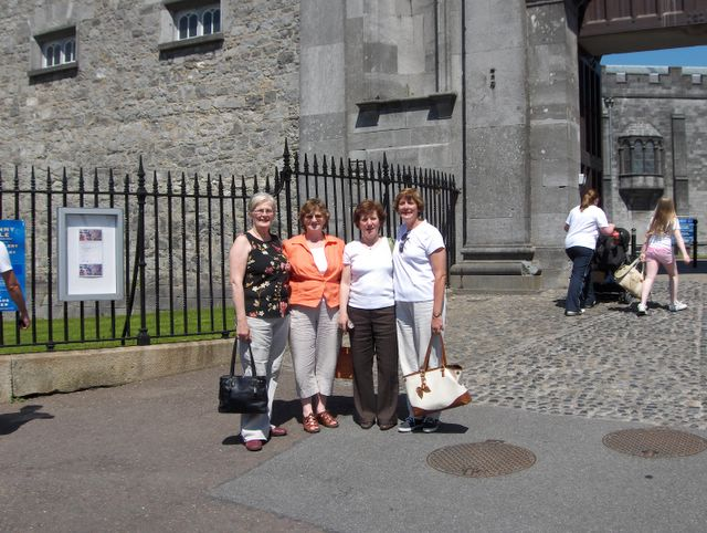 Lil, Theresa, Kathleen, and Terri at Kilkenny Castle