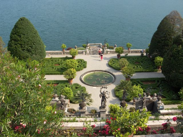 Palace Garden at Isola Bella, Lake Maggiore, Italy
