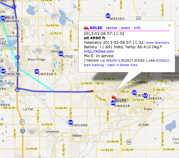 APRS screen capture
