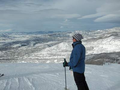 Terri Looking out over the Yampa Valley