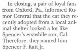 Rumor Central Column from December 7, 1992