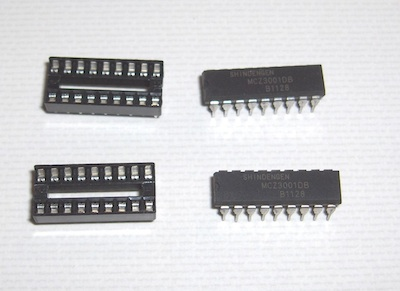 pair of mcz3001db with pair of 18-pin dip socket