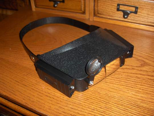 lighted magnifying headset