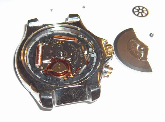 removing seiko watch rewiding weight