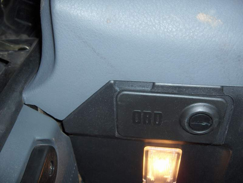 BMW OBD port under dash