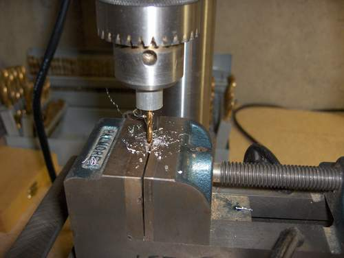 Drill as lathe making chips