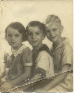 Damaged photo needing restoration and touchup work